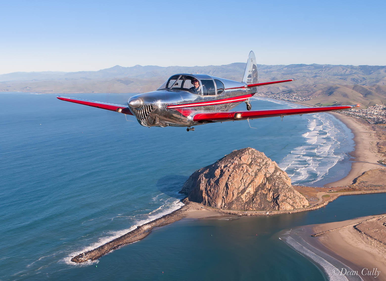 TEMCO Swift Above Morro Rock