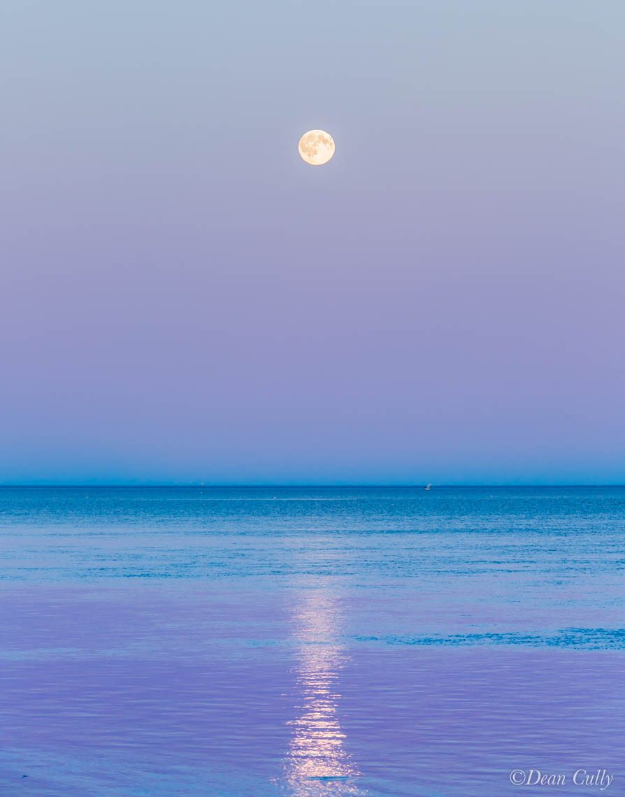 Moonrise over Kotzebue Sound, Chukchi Sea; northwestern Alaska
