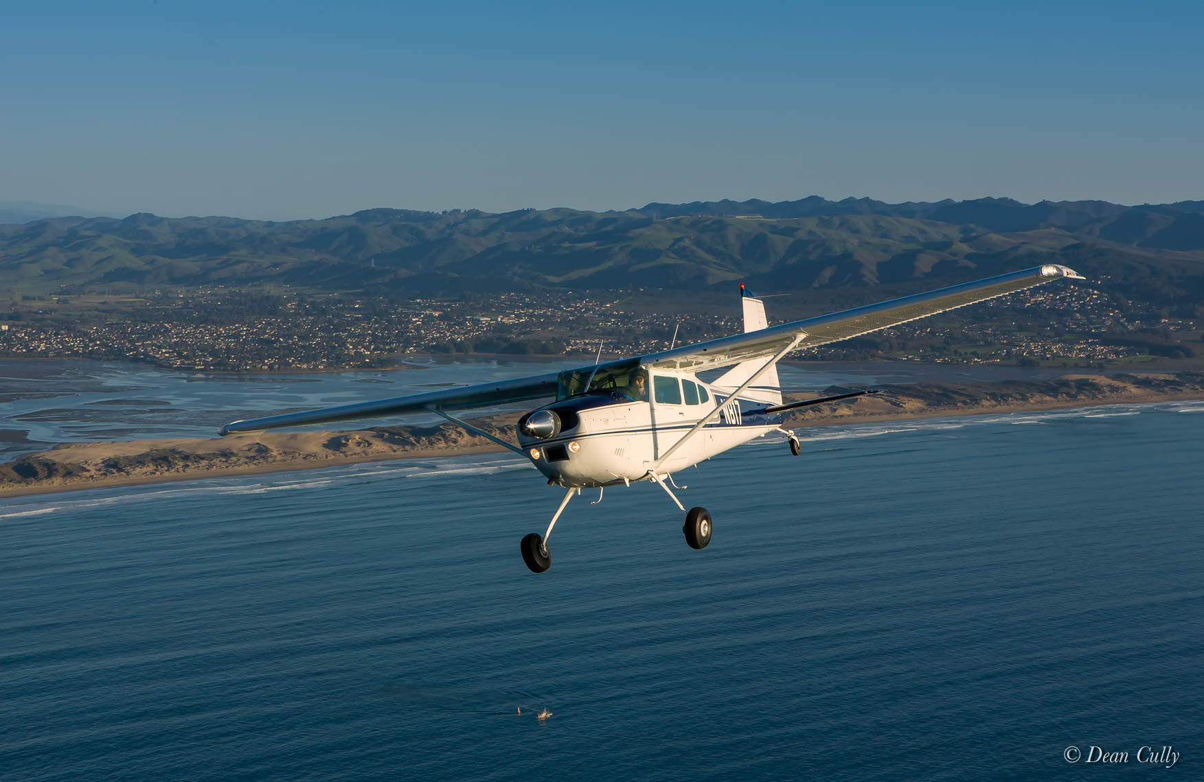 Cessna 180 On Blue