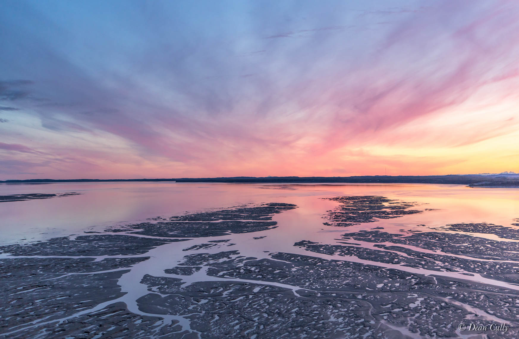 Knik Arm Mudflats at Sunset 4953