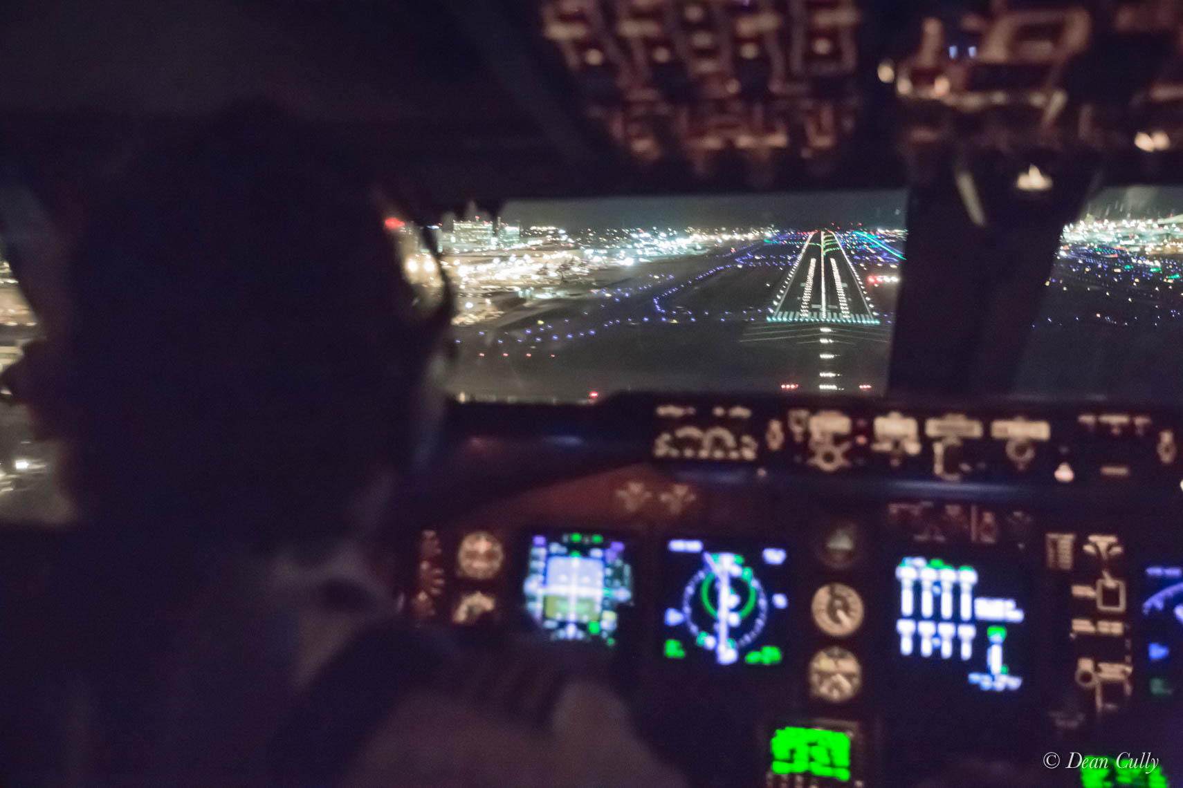 Boeing 747 Jumpseat View—Short Final LAX 25L