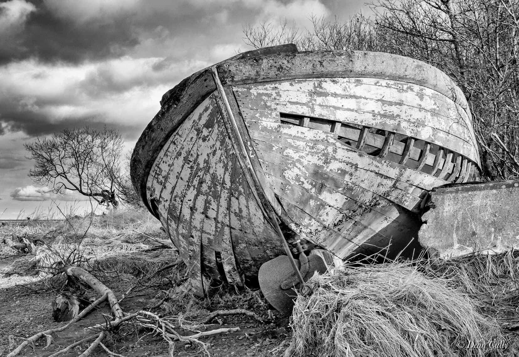 Derelict Wooden Fishing Boat Beached at Dillingham; southwestern Alaska
